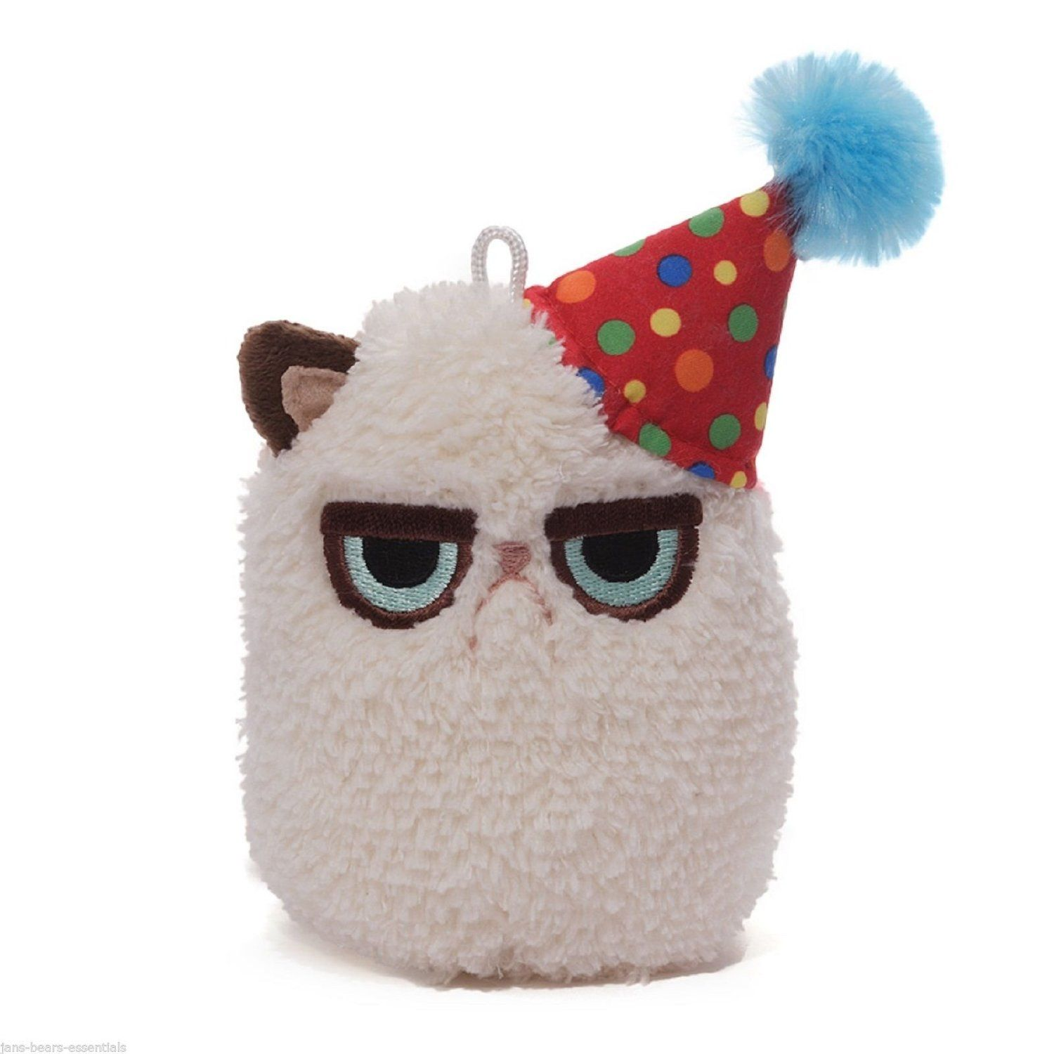 Amazon 45 Extra Soft Grumpy Cat With Birthday Hat Plush Stuffed Animal Toy Toys Games