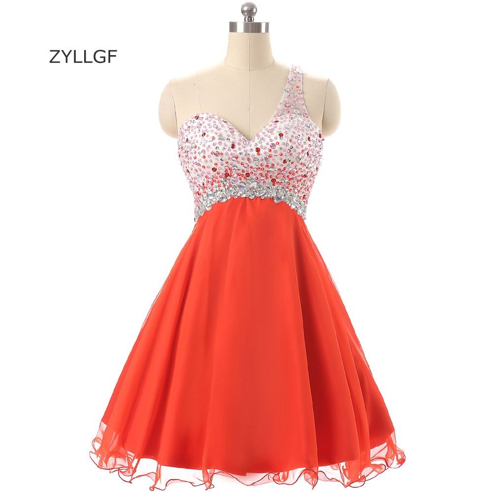 Click to buy ucuc zyllgf prom dresses short sexy backless crystal