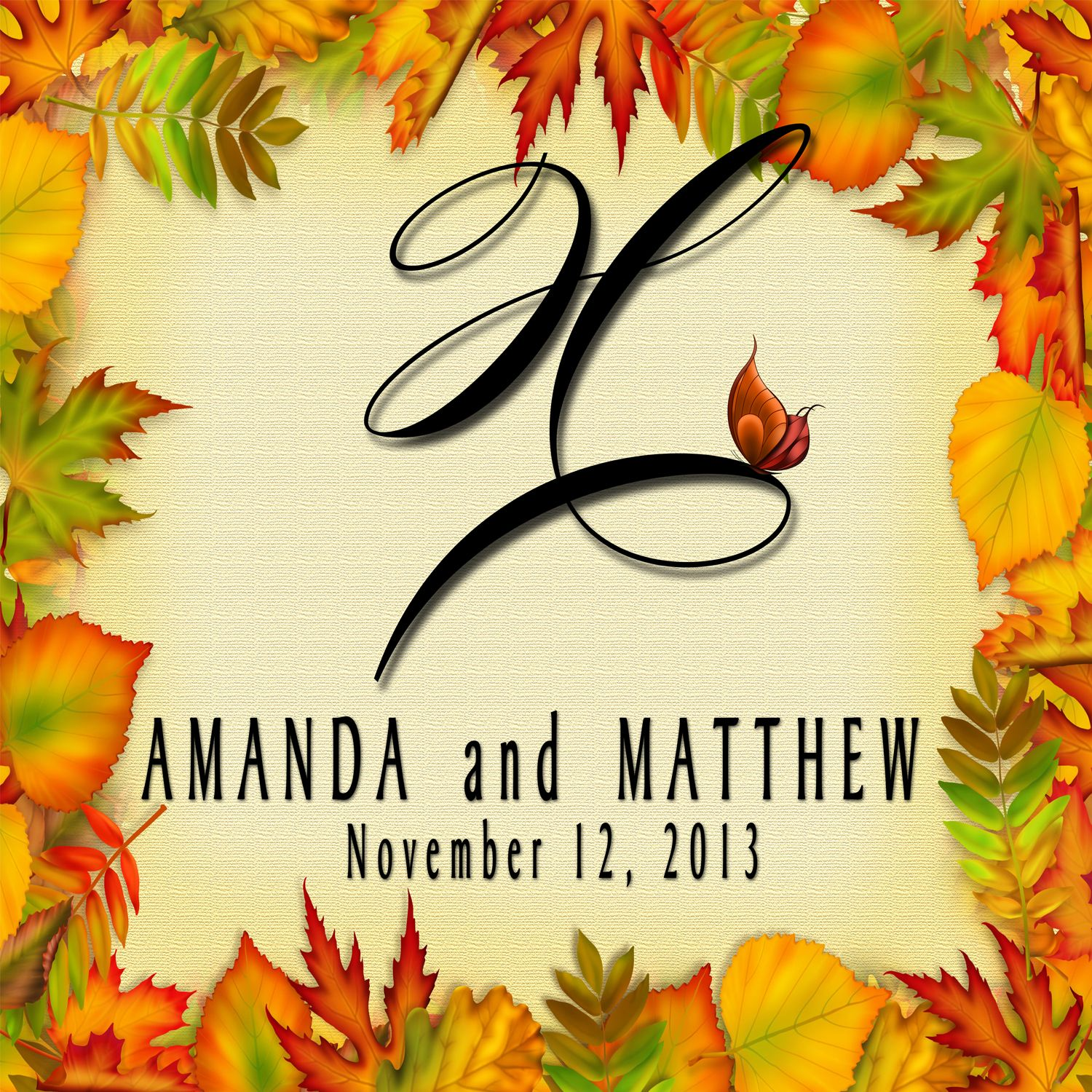 Personalized Floor Decal our hottest Fall Design.