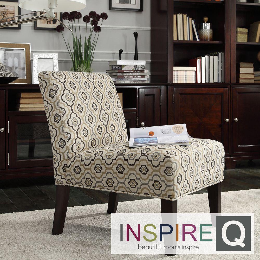INSPIRE Q Peterson Mocha Morrocan Slipper Chair by iNSPIRE Q