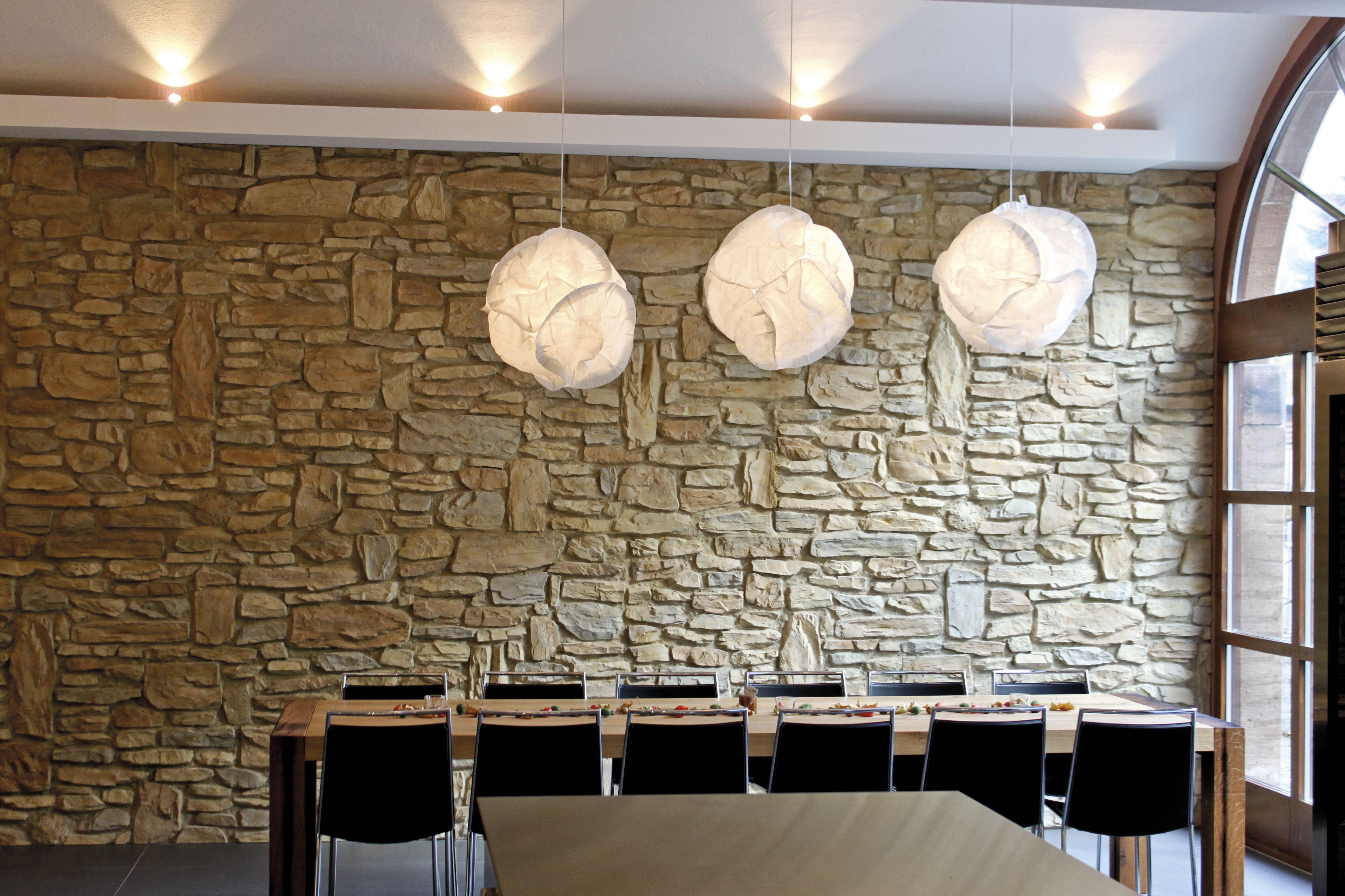 12 Esszimmer wandgestaltung stein
