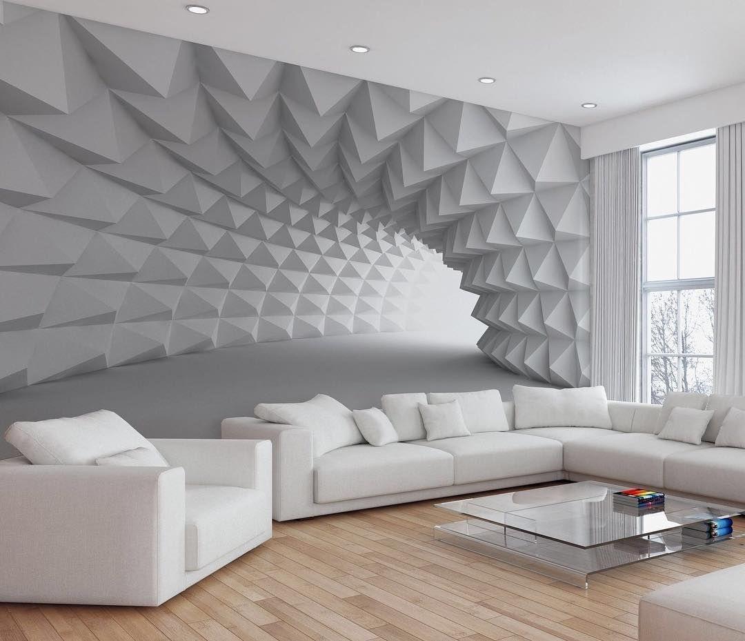 antastique illusion de profondeur      Idee deco mur salon