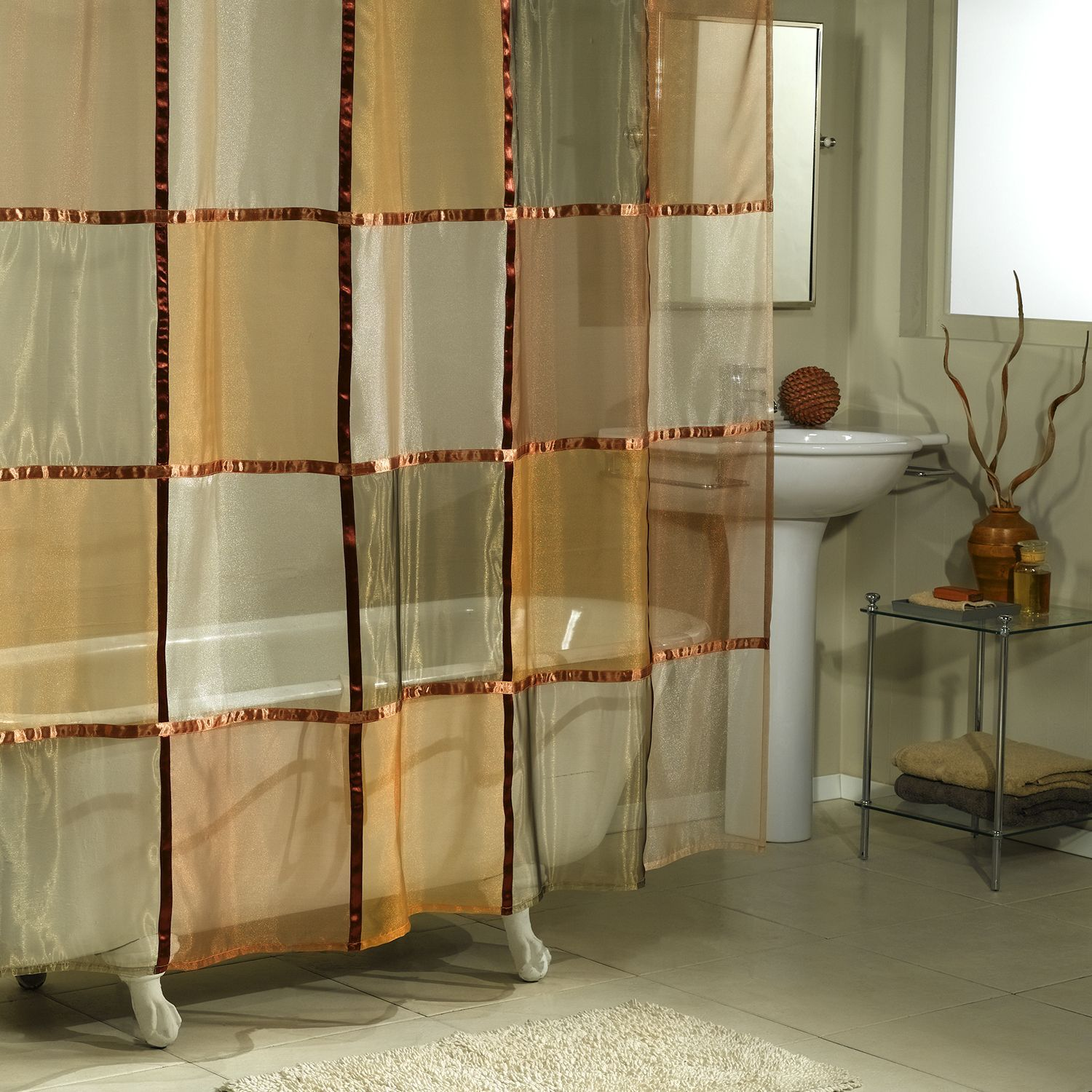 Excell Mosaic Shower Curtain Curtains Fabric Shower Curtains