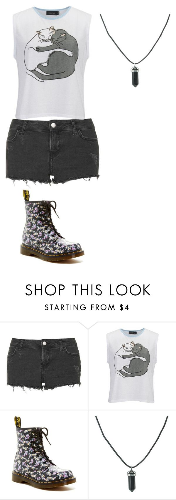 """""""Cat Love"""" by mdingle2000 on Polyvore featuring Topshop, MINKPINK, Dr. Martens and claire's"""