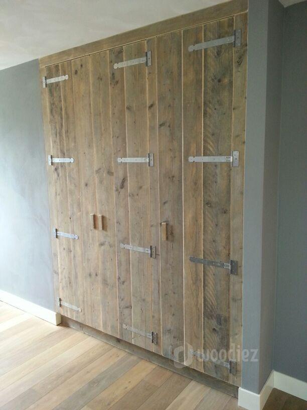 WOODIEZ | Een mooie inbouwkast van steigerhout geeft je interieur ...