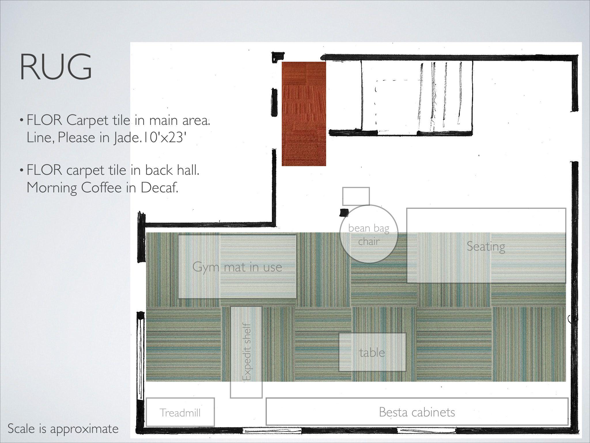 Playroom Media Room Floor Plan Showing Carpet Tile Concept Modern Playroom Carpet Tiles Bean Bag Chair
