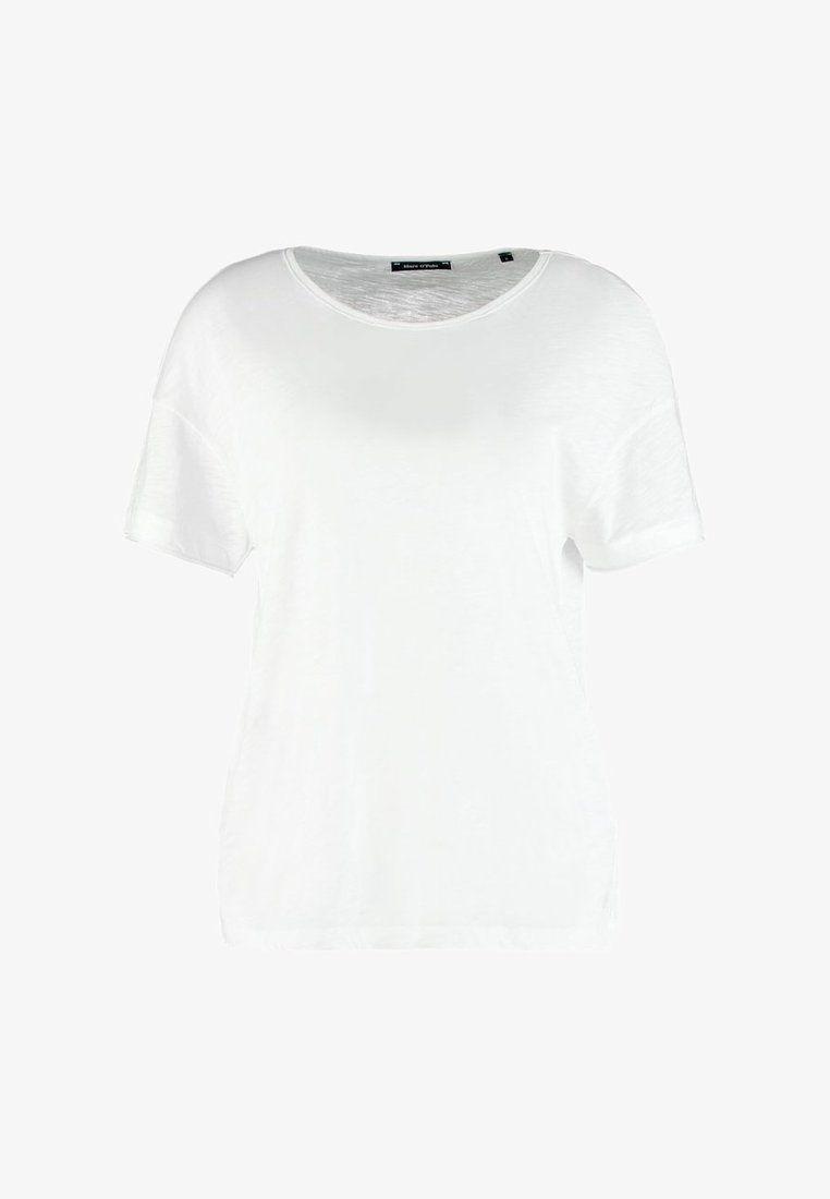 9aba607eee4f OVERCUT SHOULDER - Basic T-shirt - white @ Zalando.co.uk 🛒 | Tops ...