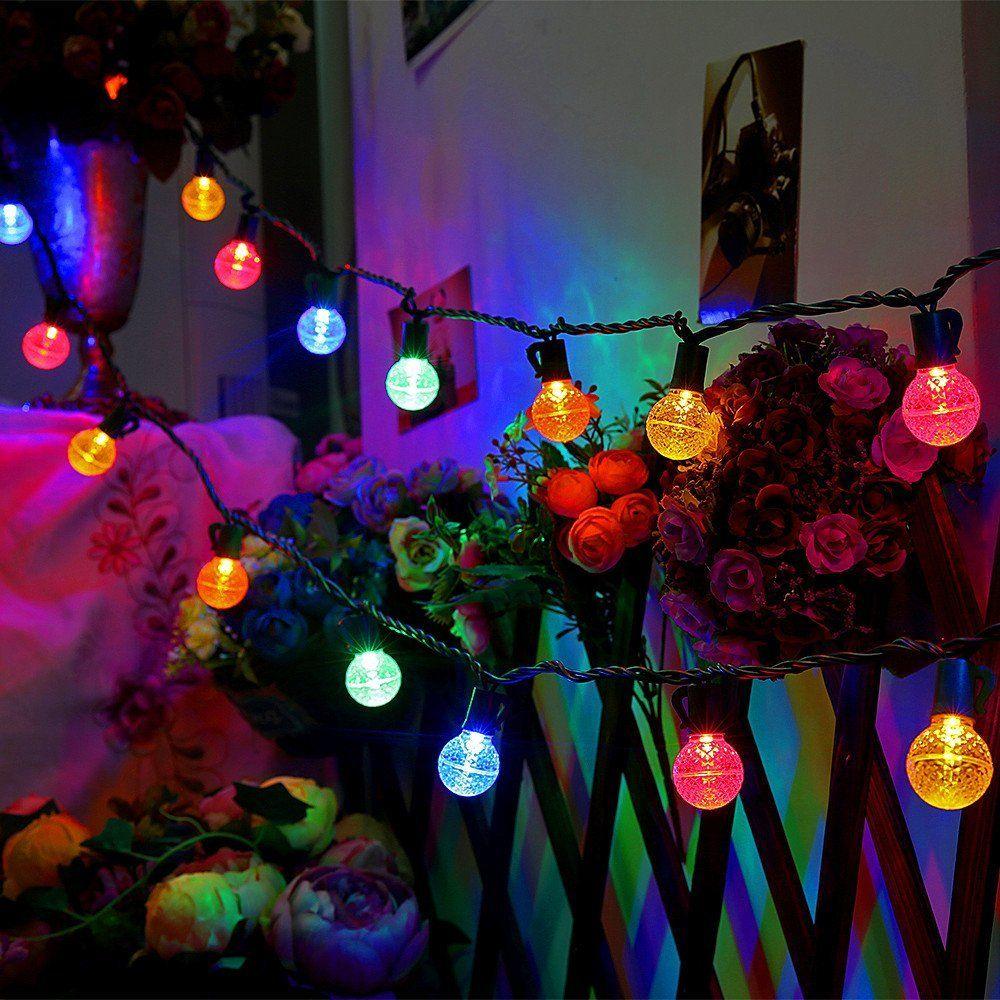 Globe Ball Light Strings Decorative Holiday Garden Patio Wedding Outdoor Christmas Lights Patio Wedding Ball Lights
