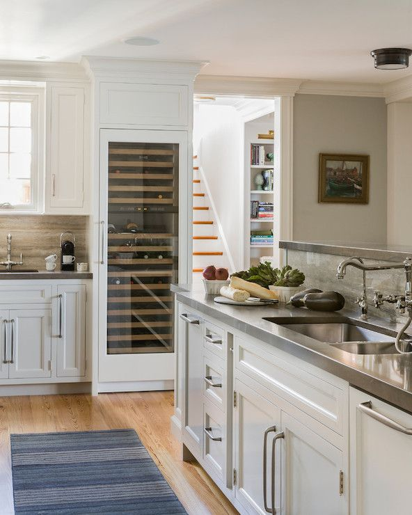 Incredible Kitchen Remodeling Ideas: Incredible Kitchen Features White Cabinets Topped With