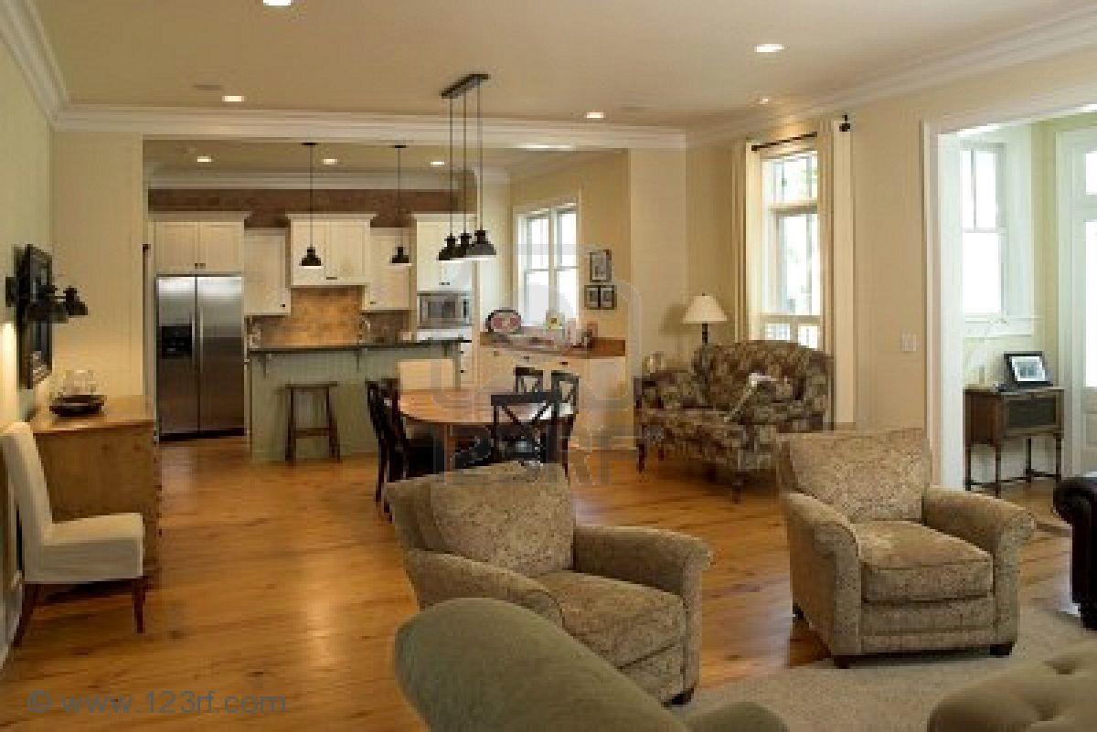 Sala de estar abierta inspira o de for Cocina abierta sala de estar