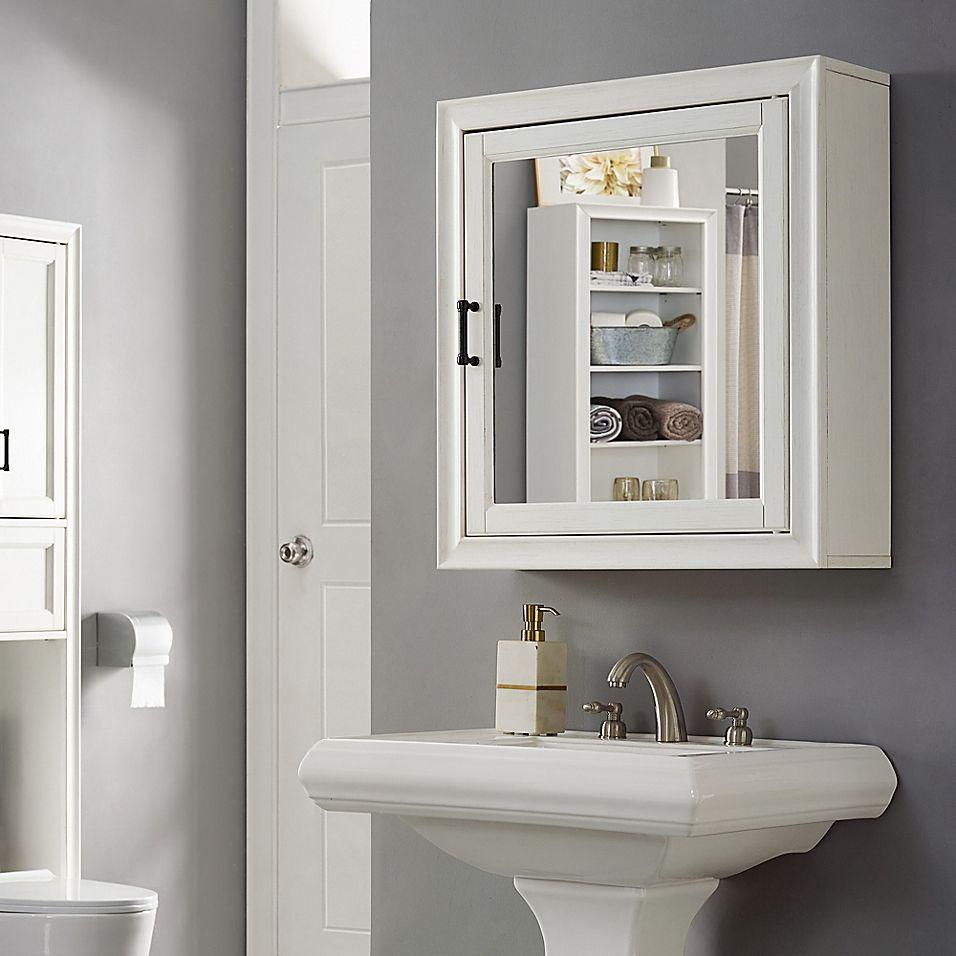 Crosley Furniture Tara Bath Mirror Cabinet Bed Bath Beyond In 2021 Mirror Cabinets Vintage Bathroom Mirrors Bathroom Mirror Cabinet