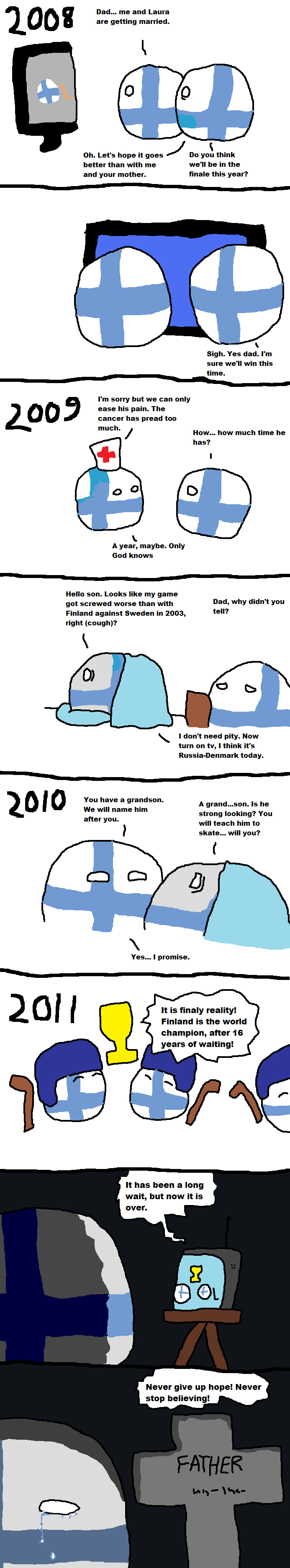"""Finland's dad part-2"" #polandball #countryball #flagball"
