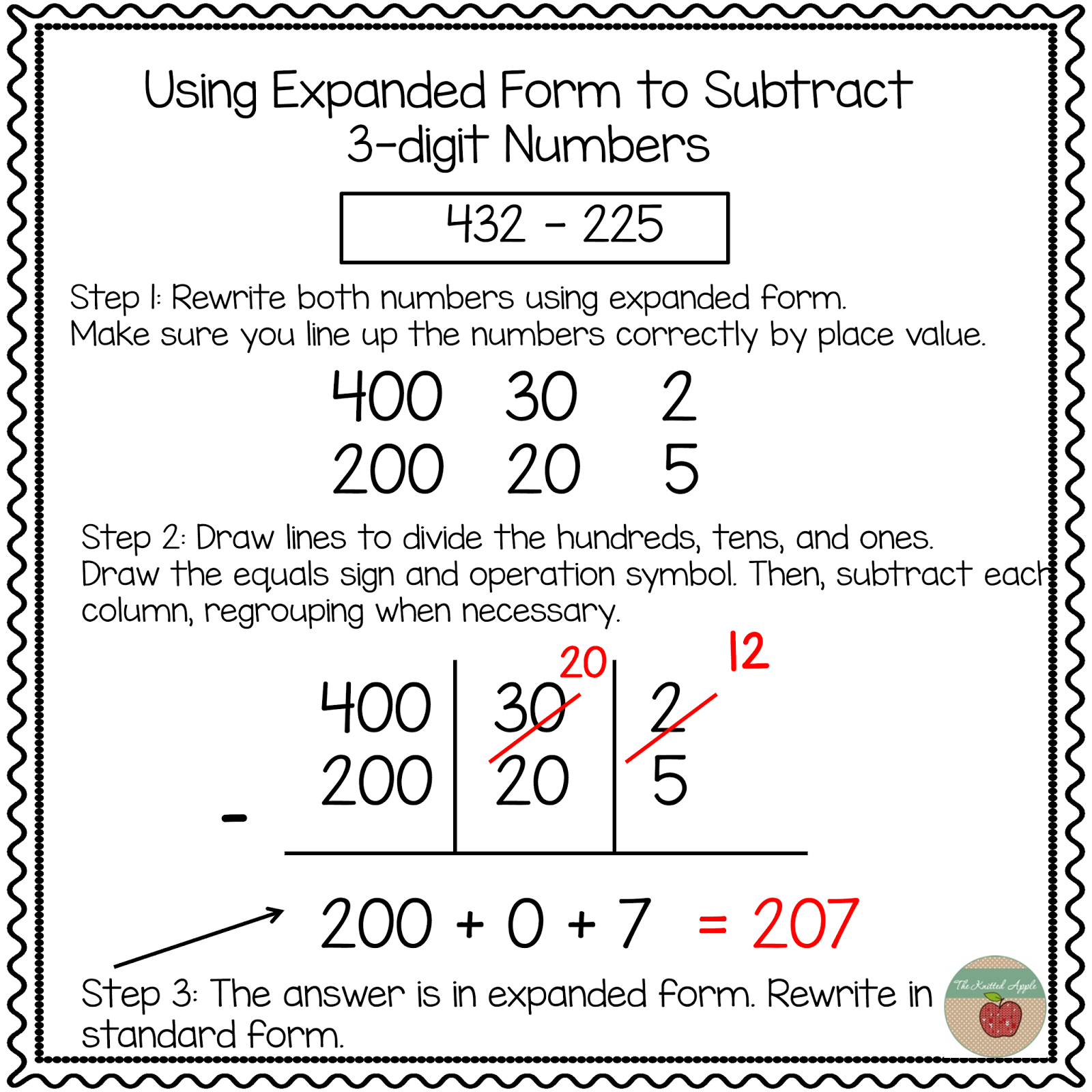 using expanded notation to regroup | math | pinterest | math