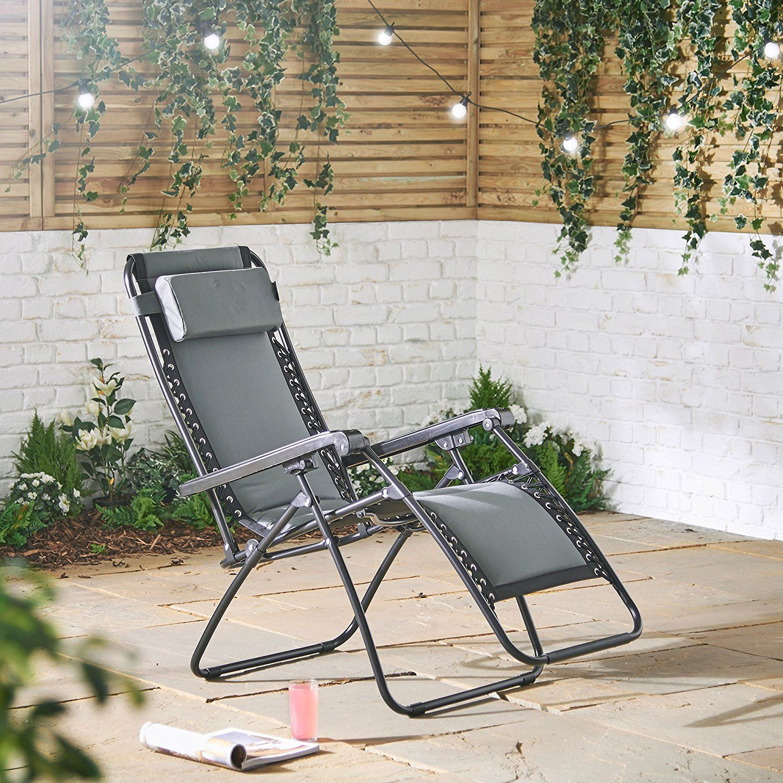 Padded Zero Gravity Chair Reclining Sun Lounger Sun Lounger Zero Gravity Chair Outdoor