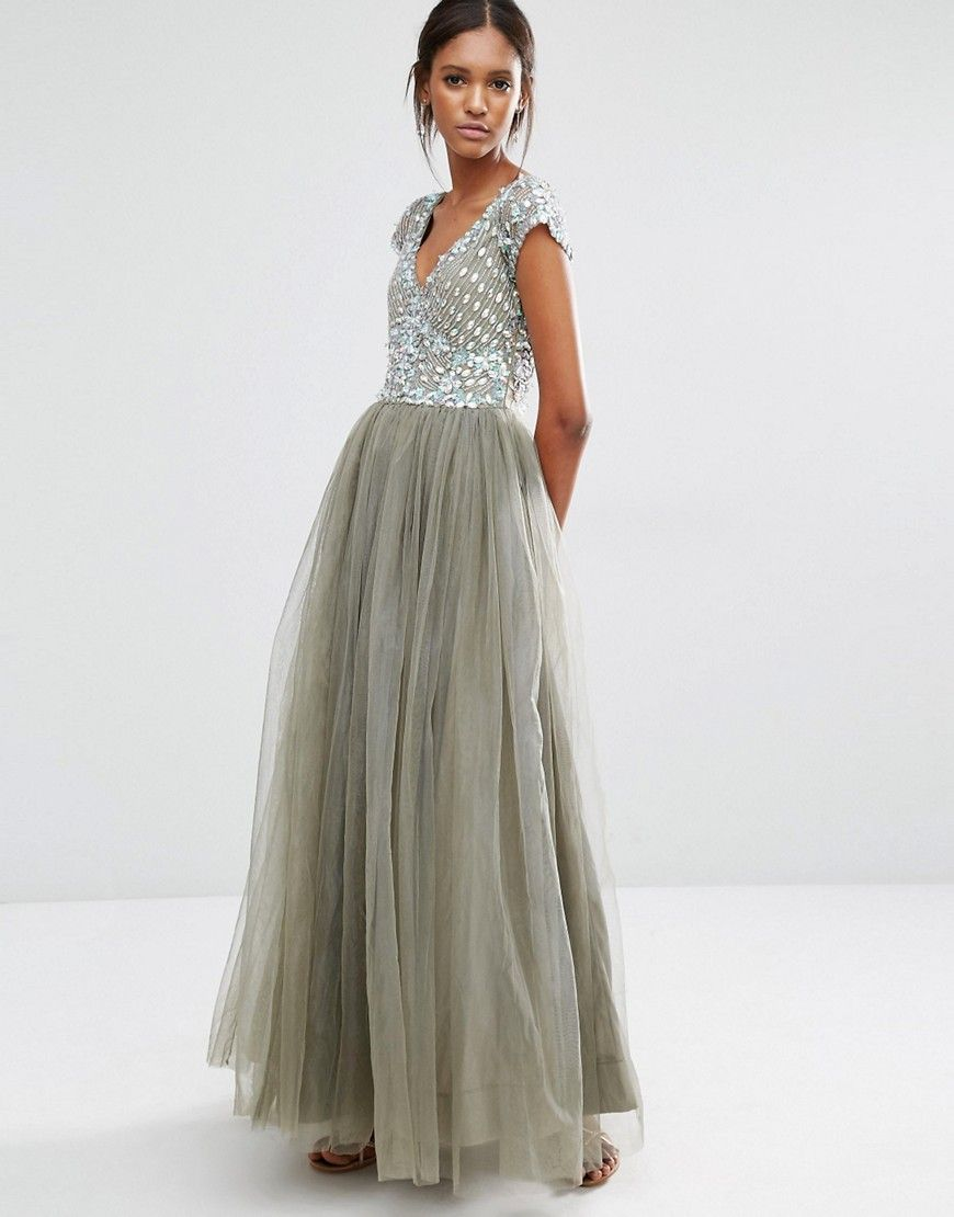 Image 16 of A Star Is Born Prom Embellished Tulle Maxi Dress (With