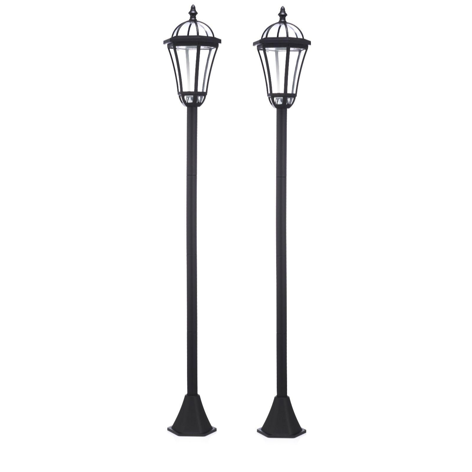 Luxform Set Of 2 Kensington Solar Powered 1 3m Lamp Posts Qvc Uk In 2020 Lamp Post Solar Powered Lamp Lighting Your Garden
