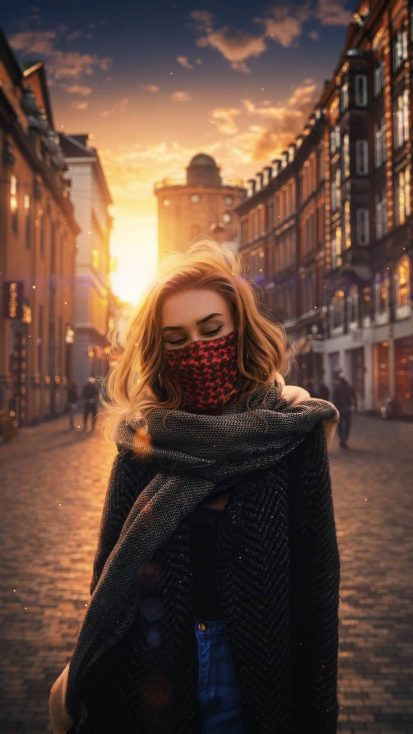 Masked Girl Wallpaper - iPhone Wallpapers
