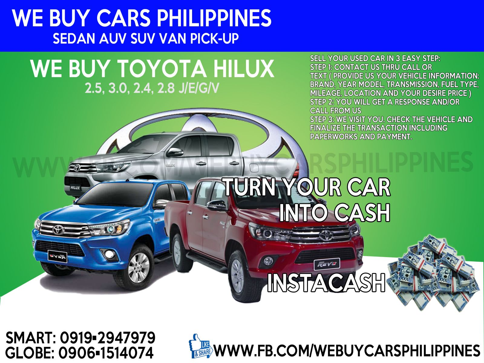 We Buy Used Toyota Hilux Philippines Contact Numbers Smart 0919 Cars For Sale With Prices 294 7979