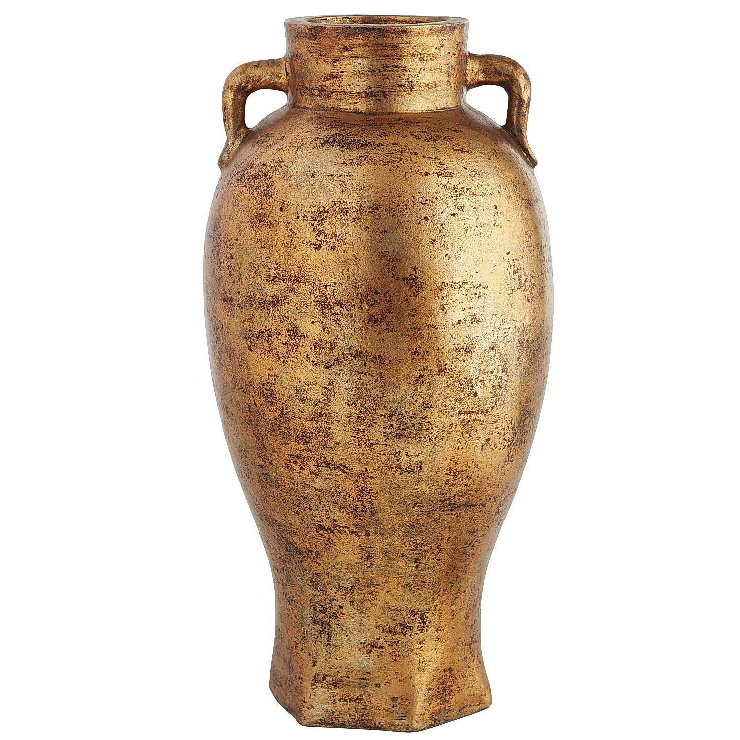 Copper Patina Floor Vase Terracotta Decor Vases