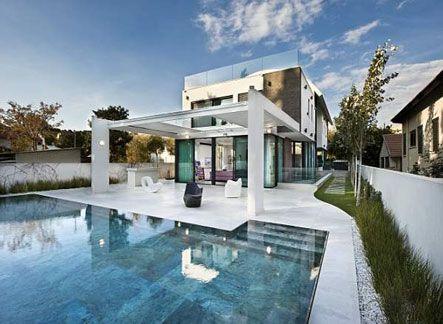desain rumah mewah 2 lantai dengan kolam renang | desain