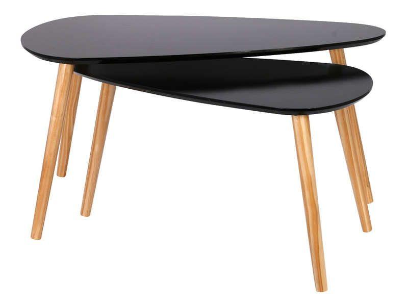 Tables Basses Gigognes Hanna Coloris Noir Vente De Table Basse Conforama 70 Table Basse Gigogne Table Basse Conforama Table Basse