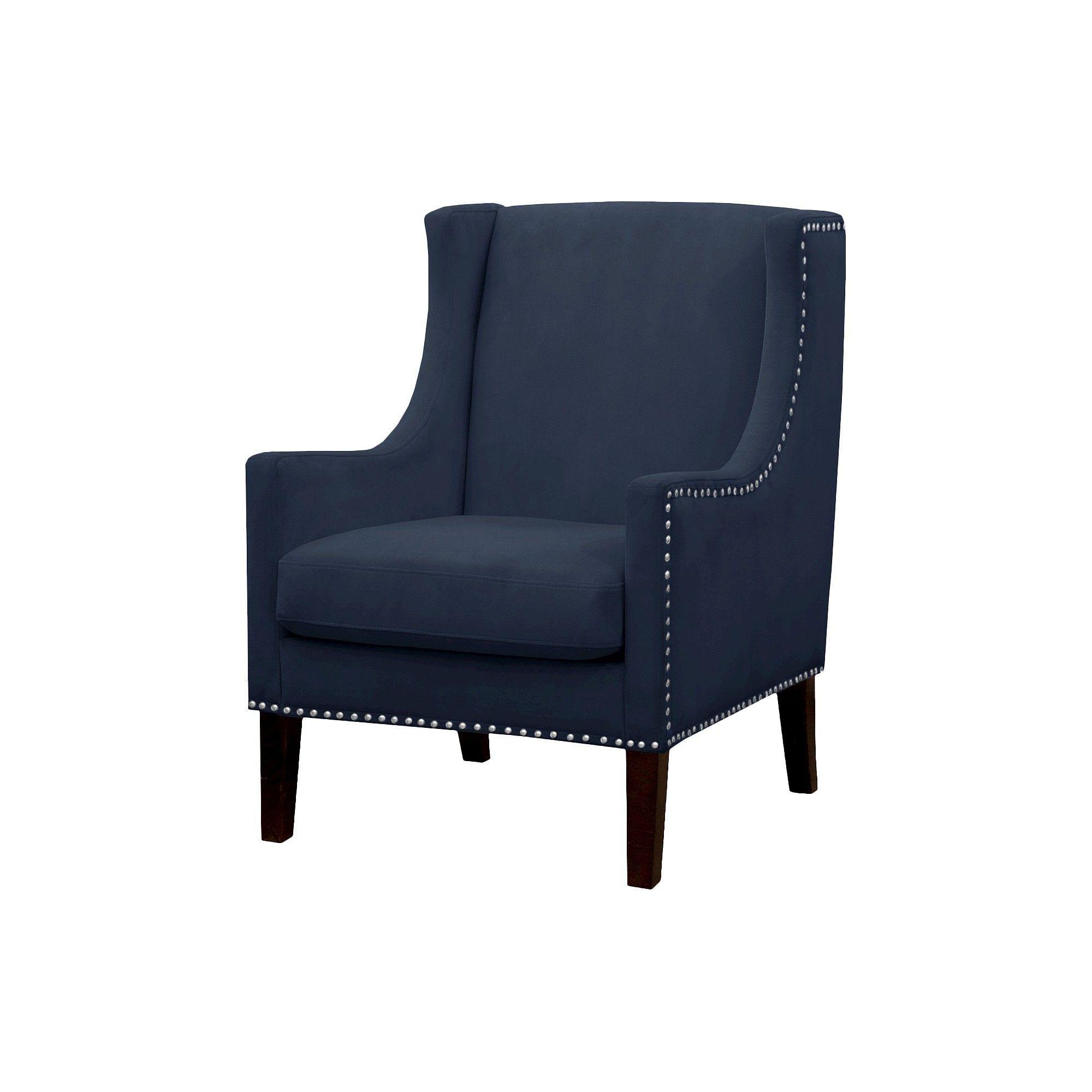 Jackson Wingback Chair Velvet Navy Threshold Arm Chairs Living Room Small Living Room Chairs Accent Chairs For Living Room