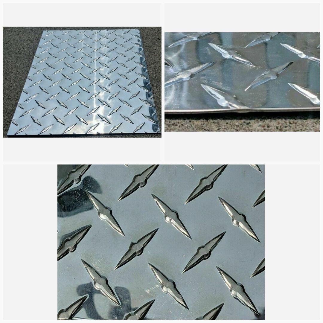 3003 Aluminum Diamond Tread Brite Plate 100 24 X 48 H14 Tread Plat Diamond Plate Aluminum Plates