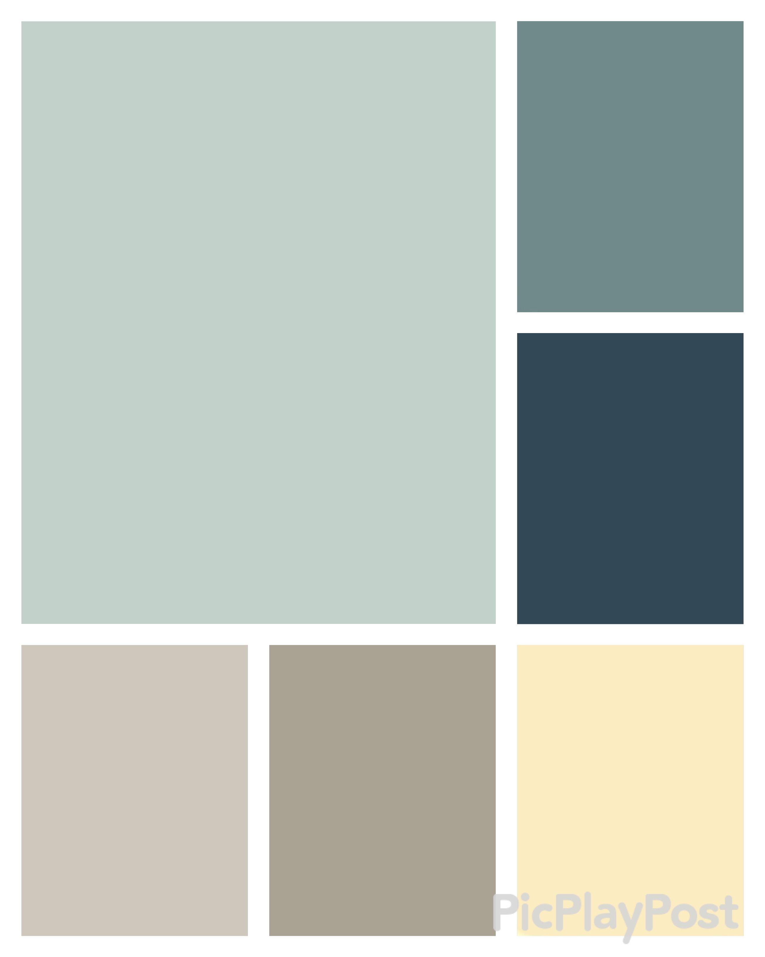 Clockwise Palladian Blue Bm Aegean Teal Bm Gentleman S Gray Bm Old World Romance Blue Paint Living Room Blue Living Room Decor Paint Colors For Home