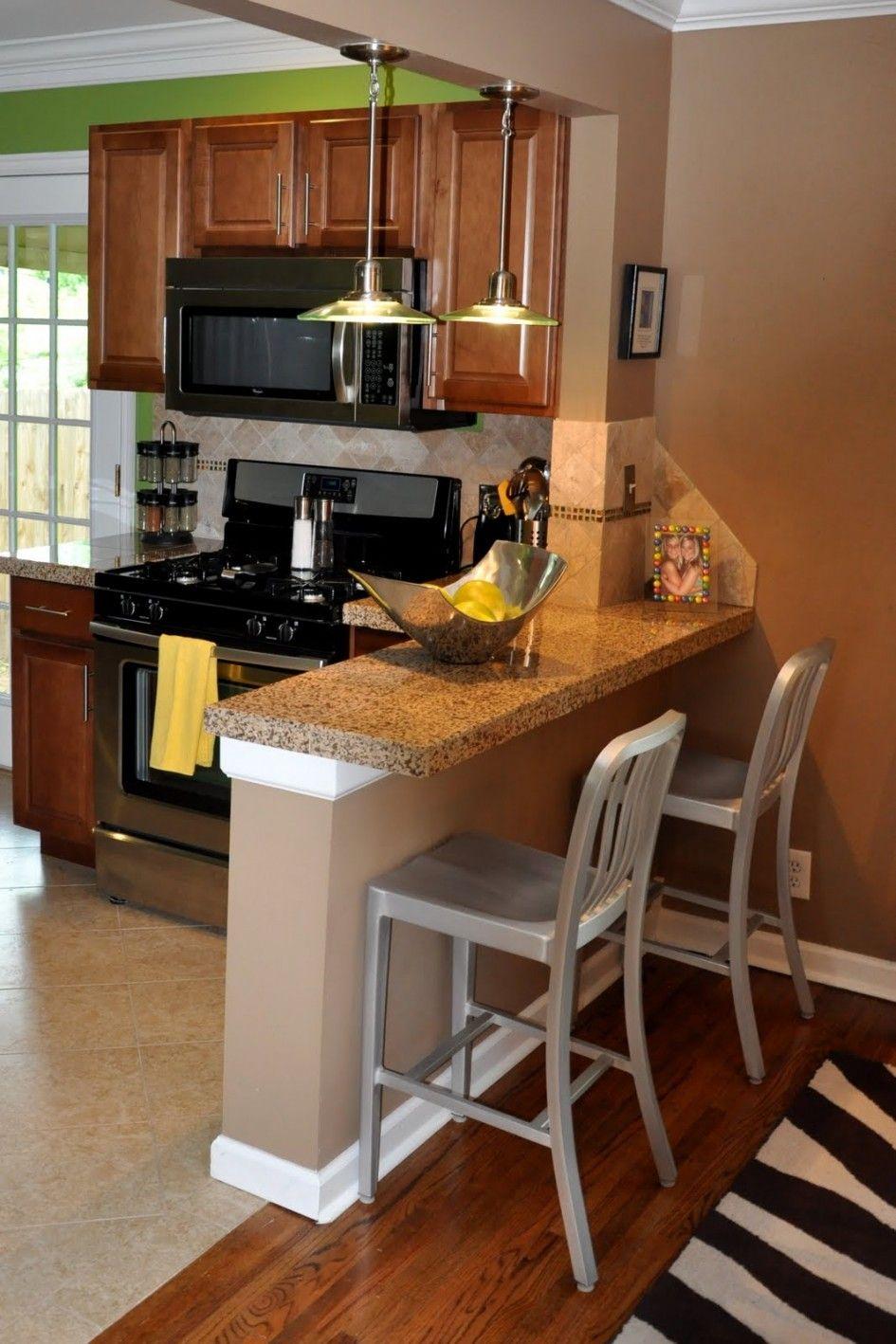 Small Breakfast Bar Idea For Tiny Kitchen Kitchen Design Small