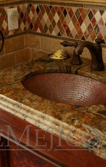 Mesquite Bathroom Vanities Copper, Spanish Style Bathroom Sinks