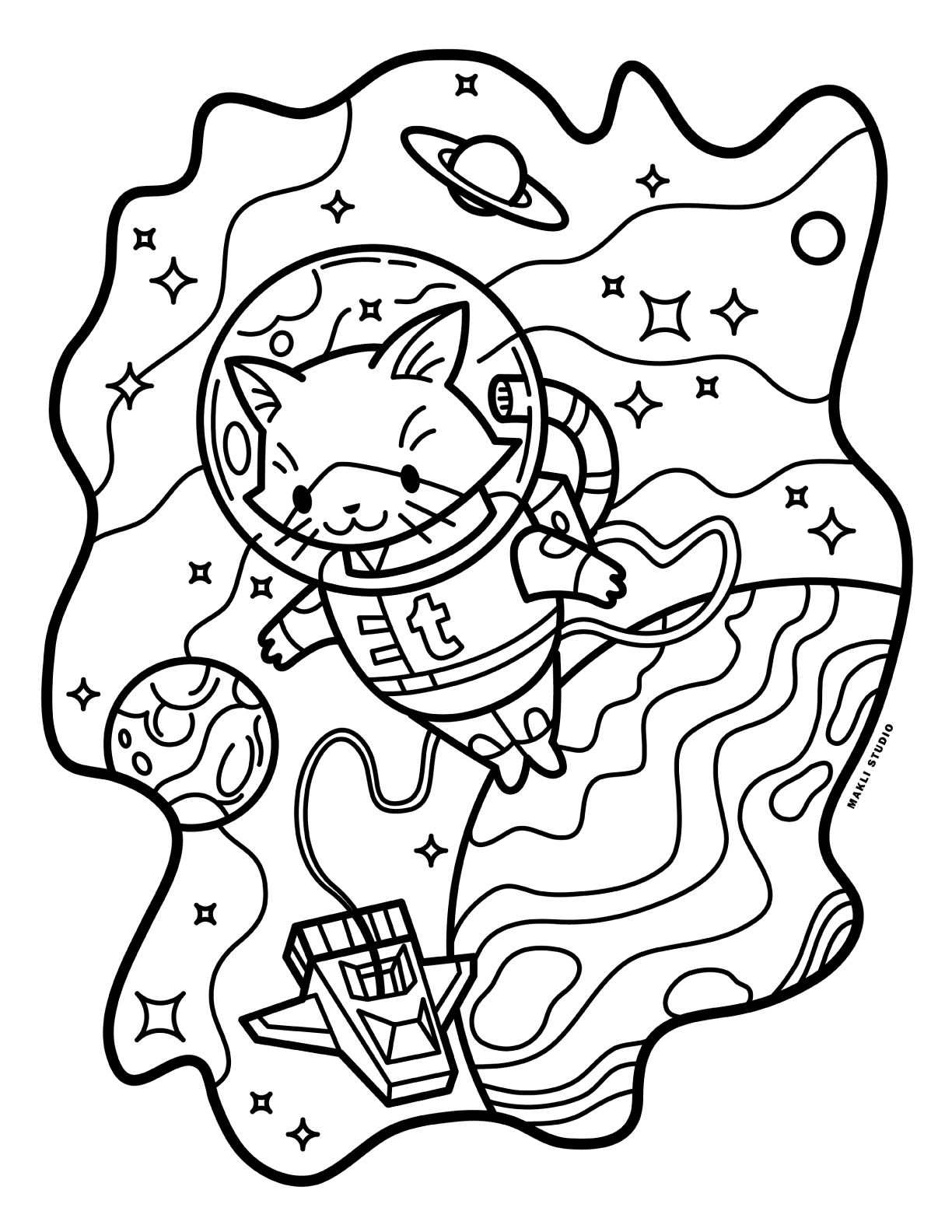Aesthetic Coloring Pages Easy