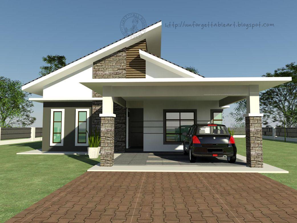 Image Result For Rumah Banglo Setingkat Simple House Plans Design Floor