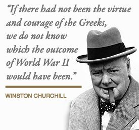 Image result for winston churchill quote on greece