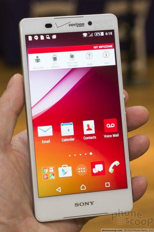 Verizon Sony Xperia Z4v Hands On Pics Sony Phone Sony Xperia