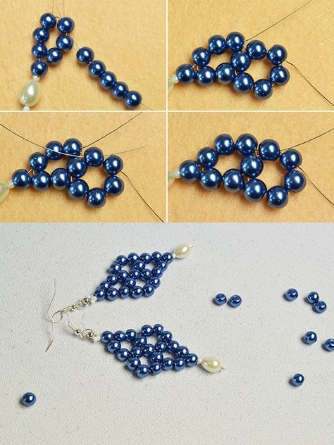 Wanna The Pearl Beads Earrings The Tutorial Will Be Shared By Lc