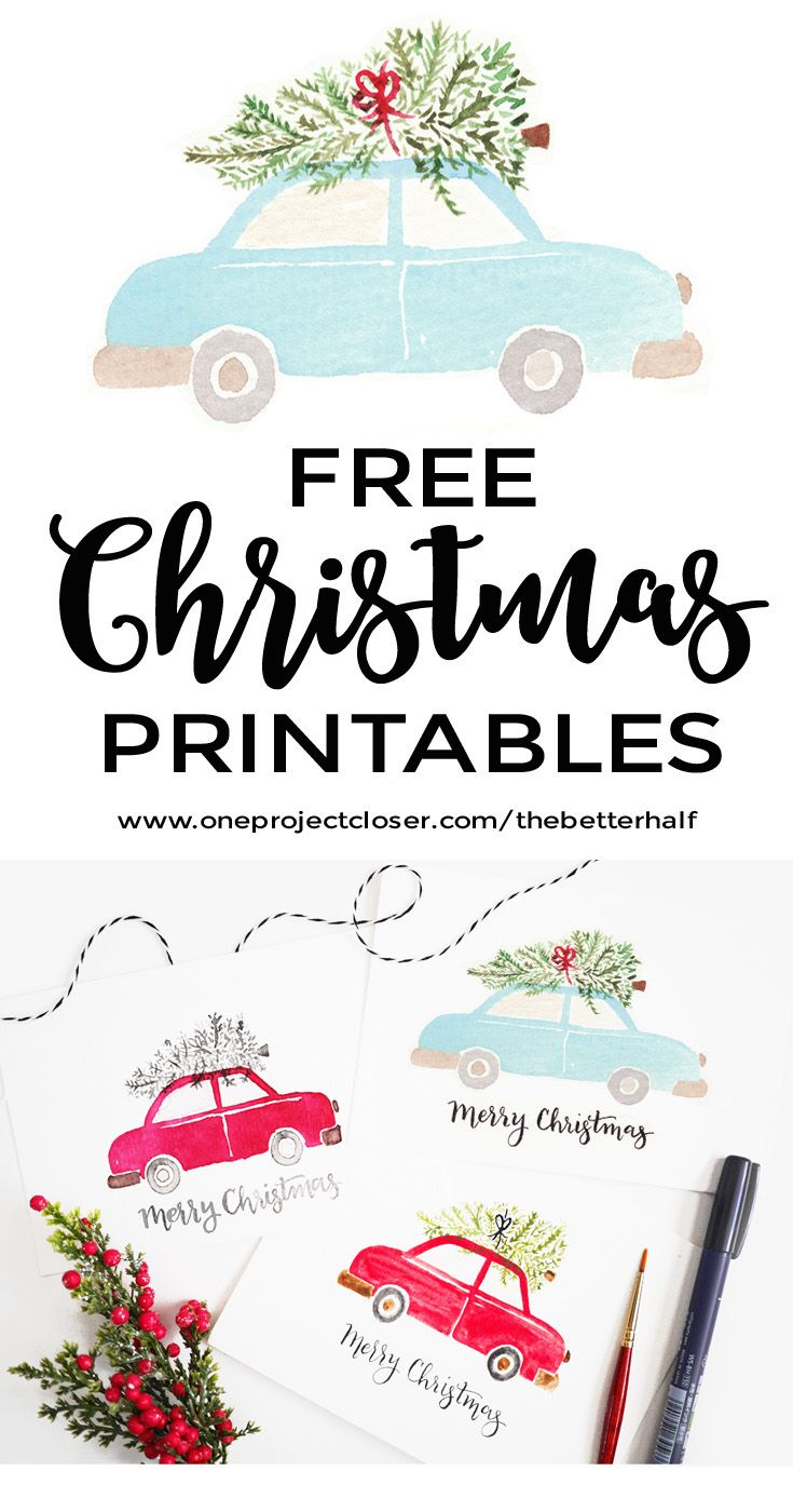 Watercolor Christmas Printable Christmas Printables Free