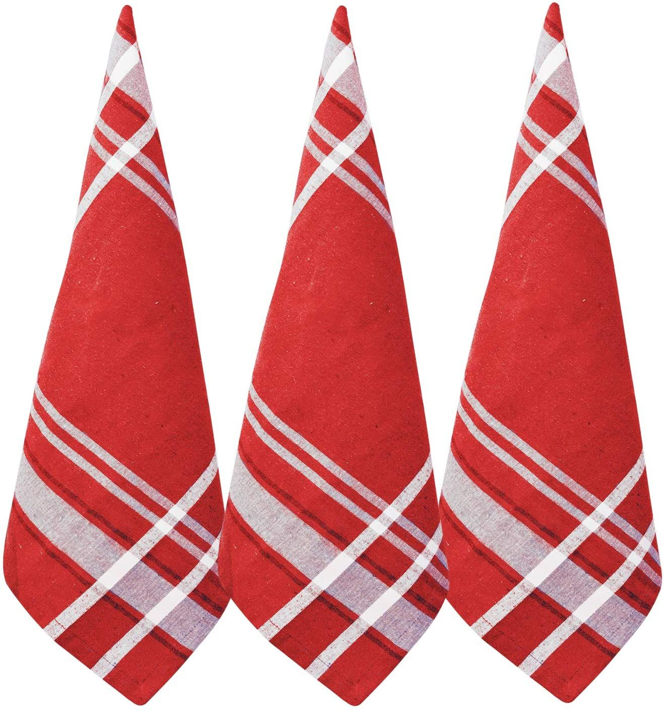 Red Cotton Dish Towels In 2021 Striped Towels Cotton Tea Towels Dish Towels