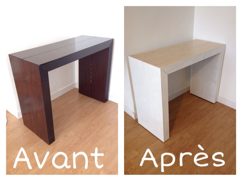 Projet déco  Customisation du0027une console extensible Matériel - quelle peinture pour bois exterieur