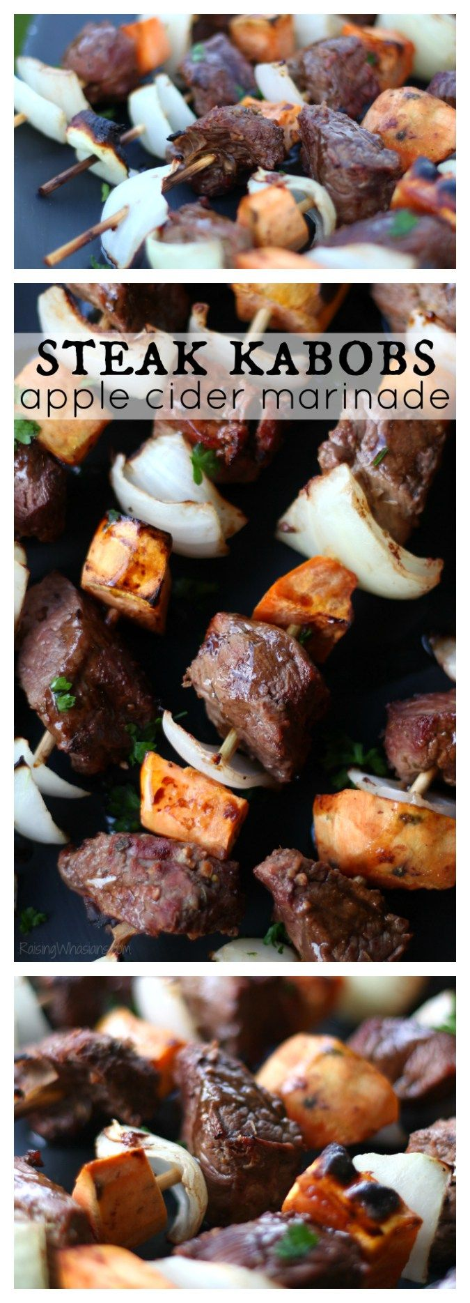 Fall Steak Kabobs with Apple Cider Marinade | Easy fall grilling recipe + Join the 30 Day#ProteinChallenge ad