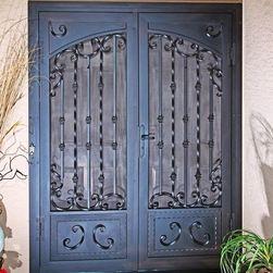 Mediterranean Screen Door Home Products On Houzz Security Screen Door Security Screen Screen Door