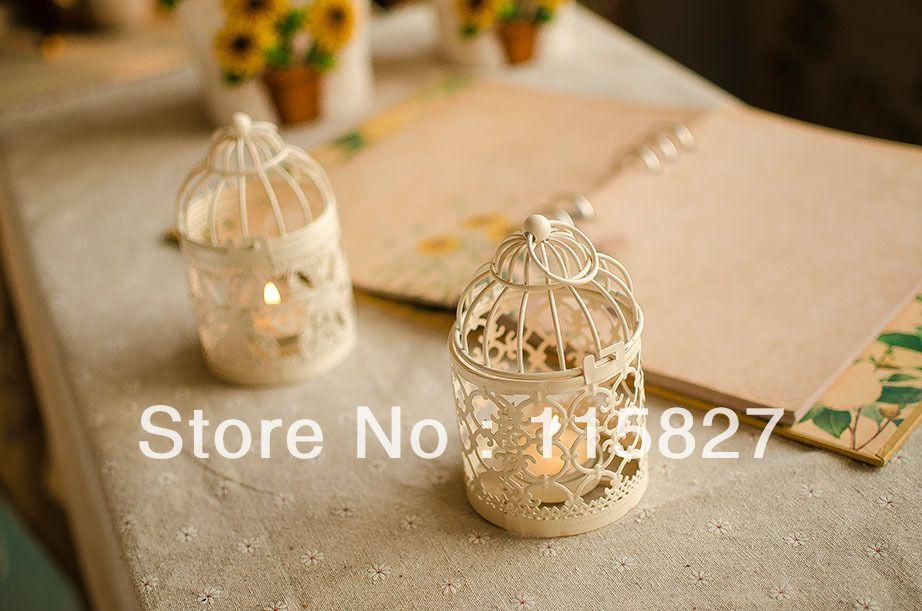 Free Shipping!Classical design Iron Candle Holder Weddings lantern Candle Holder Bird cage shape candle holder wedding gift US $7.50