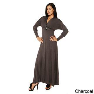 77857195ef9 24 7 Comfort Apparel Women s Long Sleeve Empire Maxi Dress ...