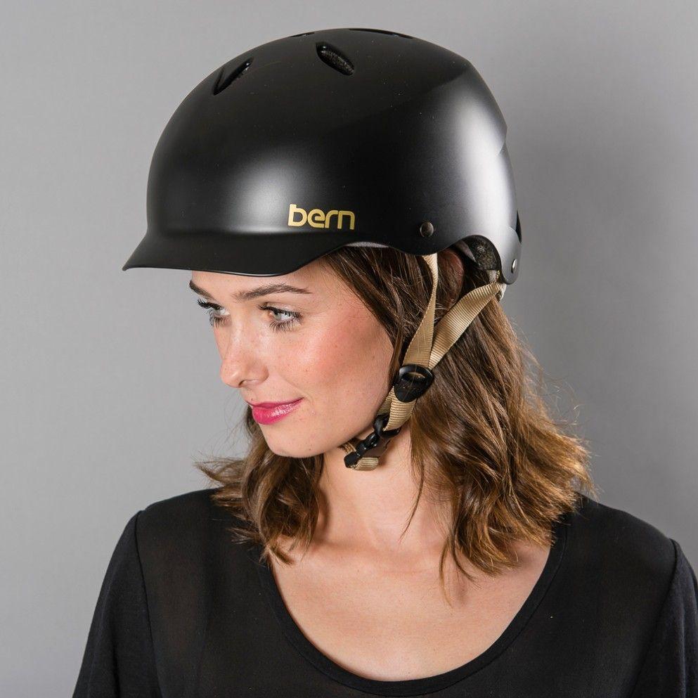 cd396c256a9 Bern Lenox ladies bike helmet- Satin Black- New