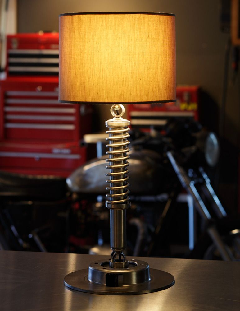 Perfect for the man cave lamp base made from car parts car parts decorlight fittingslight