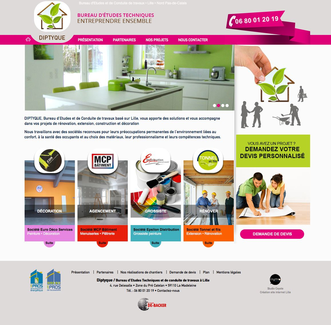 Web Design Site Vitrine Diptyque Bureau Etudes Lille Www Diptyque