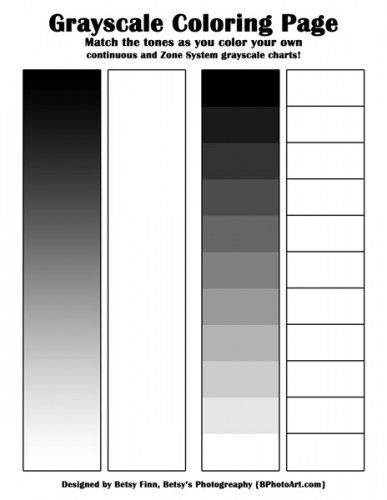 graphic about Printable Grayscale named Understand in excess of Grayscale (printable coloring web page!) Coloring