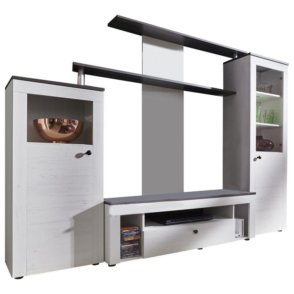 Wohnwand Kombination TTX 03 Weiß   Pinie Nussbaum Jetzt Bestellen Unter: ...