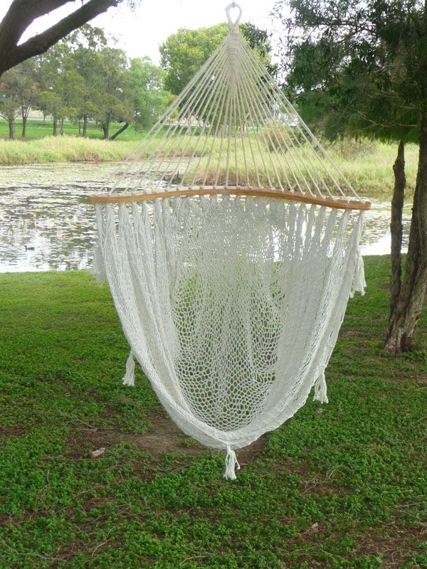 Mexico Chair Hammock 1/2 Moon Mexican Hammock Chair In Cream With Free