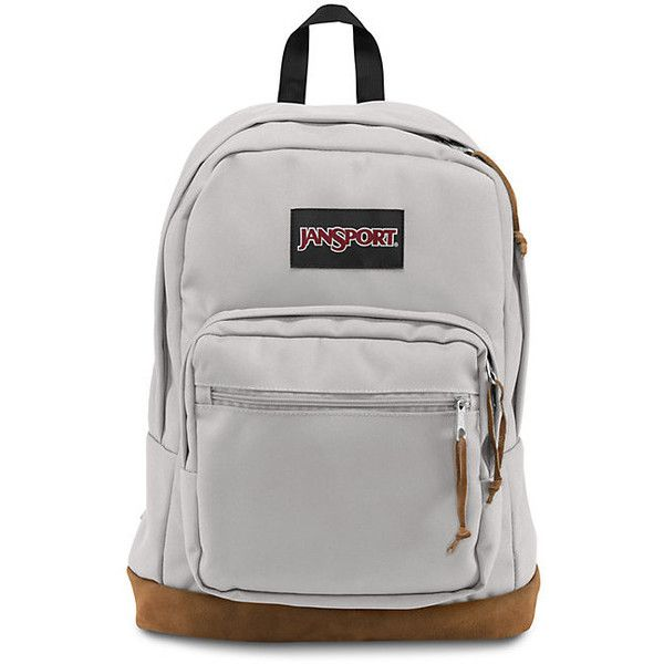 JanSport Right Pack Grey Rabbit (77 CAD) ❤ liked on Polyvore featuring bags, backpacks, pocket bag, knapsack bags, jansport bags, grey bag and rucksack bag