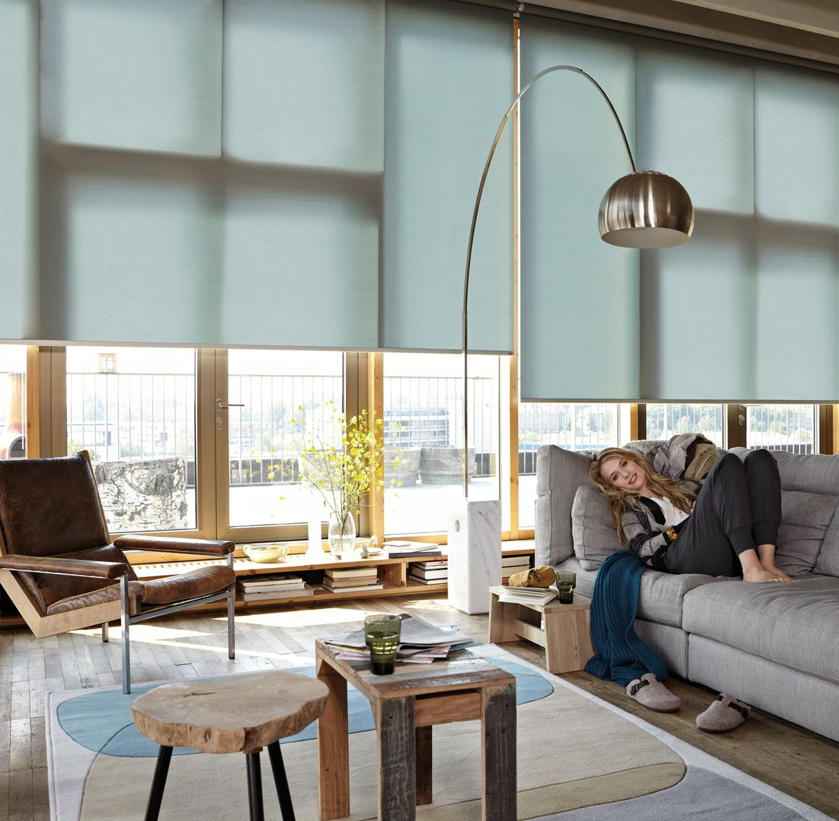 rollo #leha #wohnzimmer pinned by www.wagner-fenster.at  Cortinas